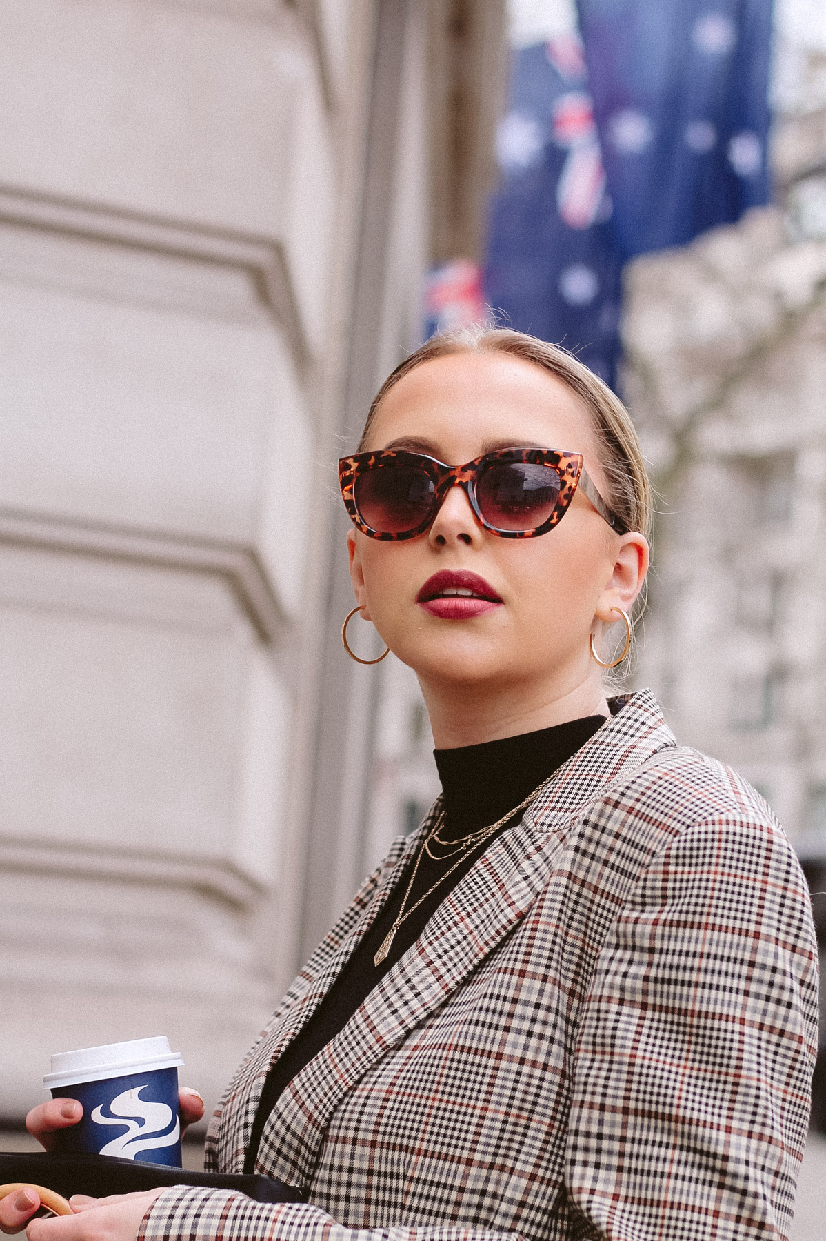 london fashion week aw18 street style trends checked blazer