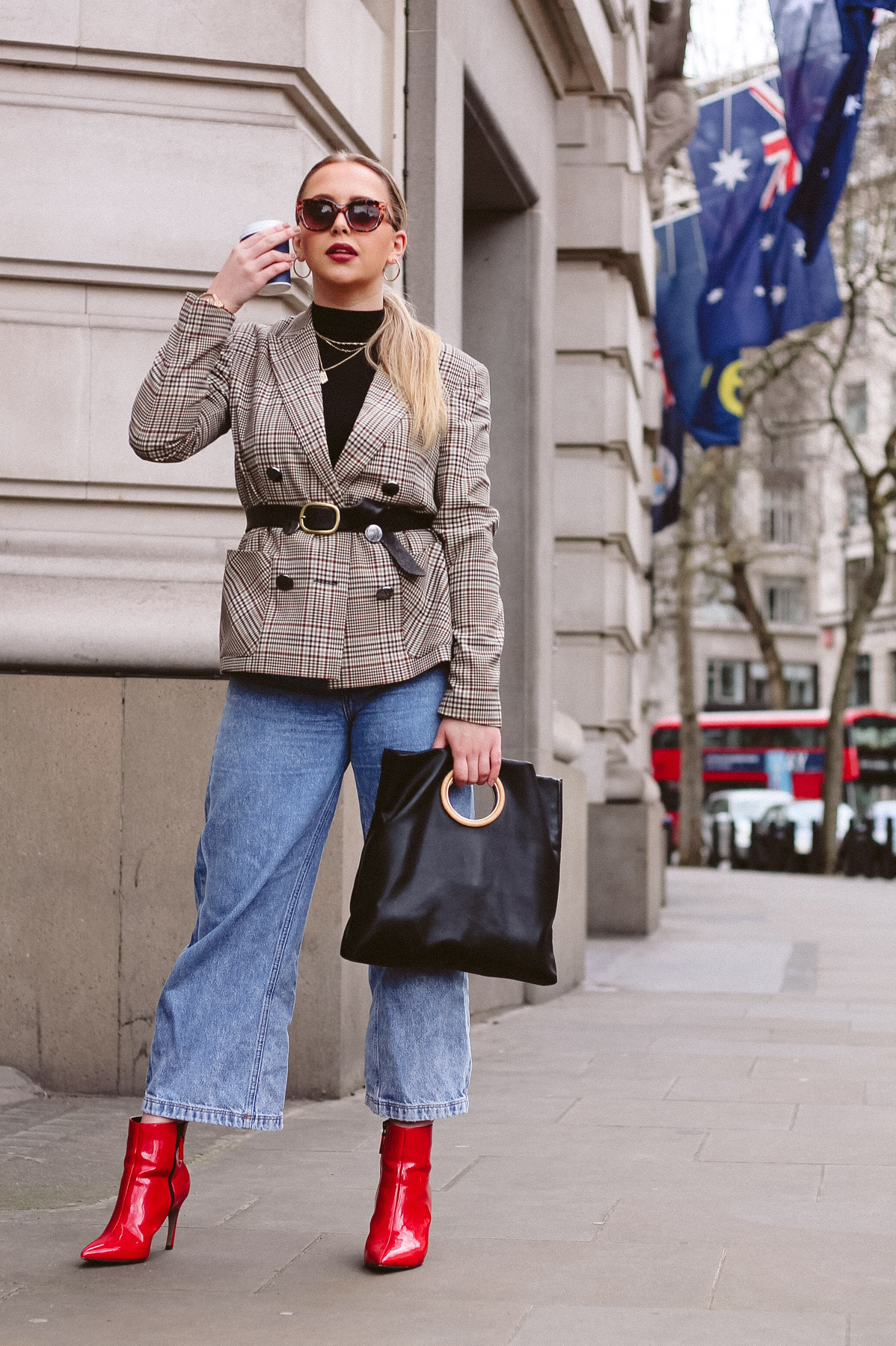 london fashion week aw18 street style trends red ankle boots