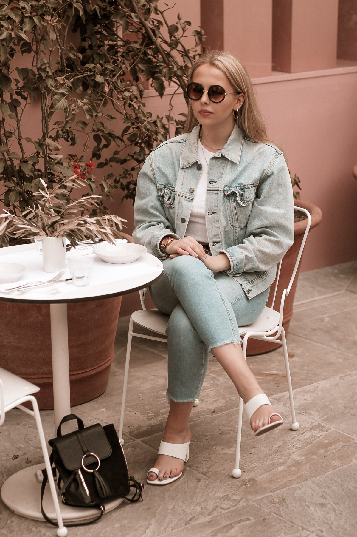 levis denim jacket los angeles cafe flora
