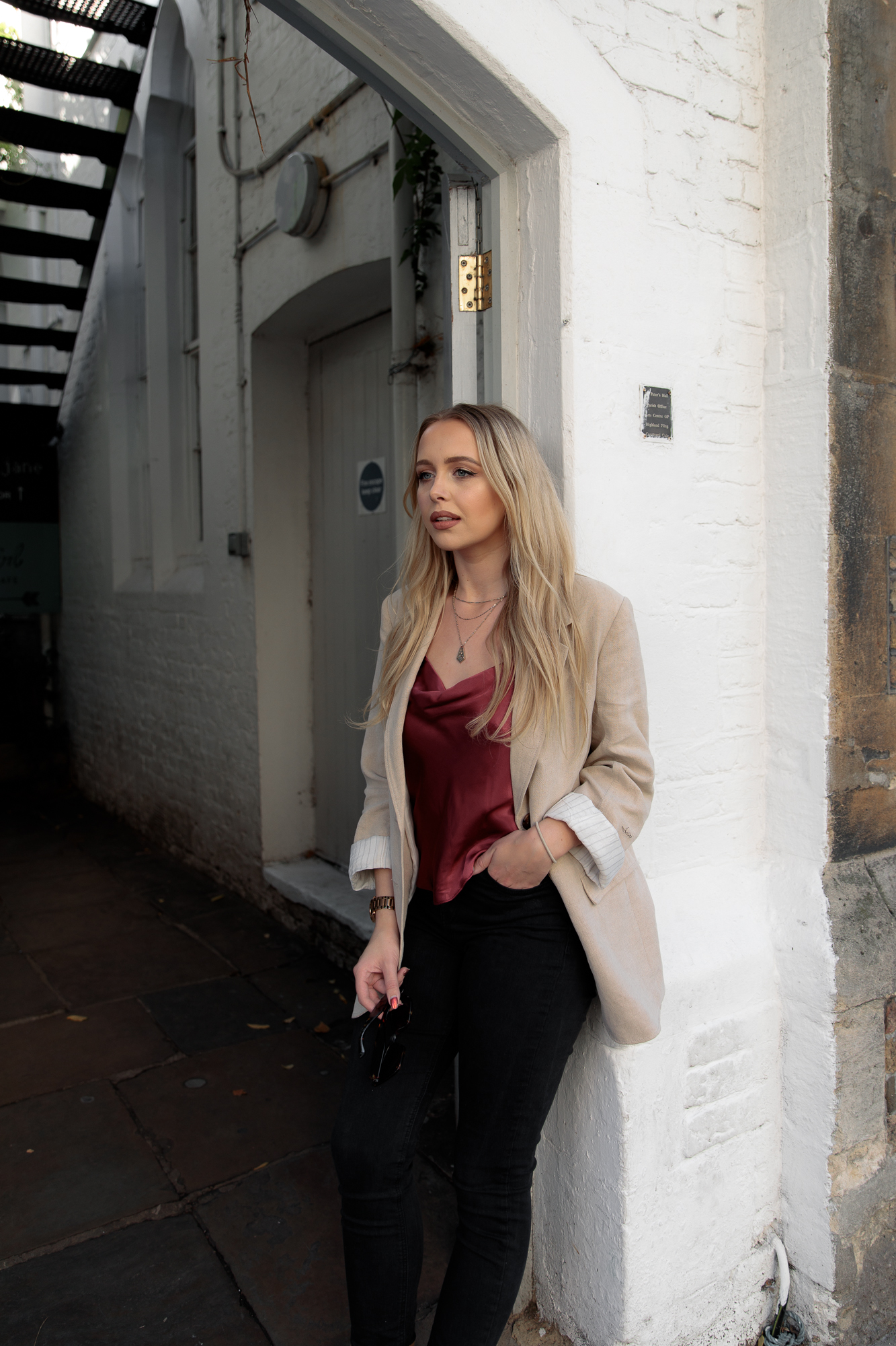 career-finding-your-passion-blazer-autumn-style-topshop-satin-cowl-neck-top
